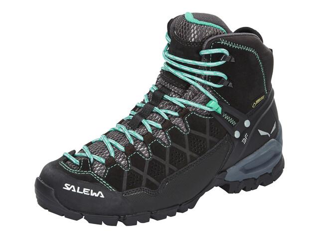Salewa W's Alp Trainer Mid GTX Shoes Black Out/Agata
